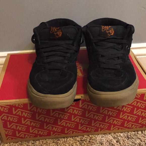 d91941fbe1 Vans Half Cab (Black Black Gum) Pro Skate Shoe. M 5ab06ac93afbbd3db548e14d